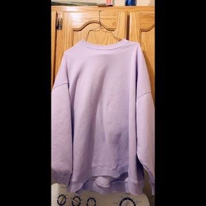 purple oversized american eagle sweater
